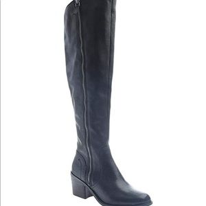 Nicole over the knee black boots